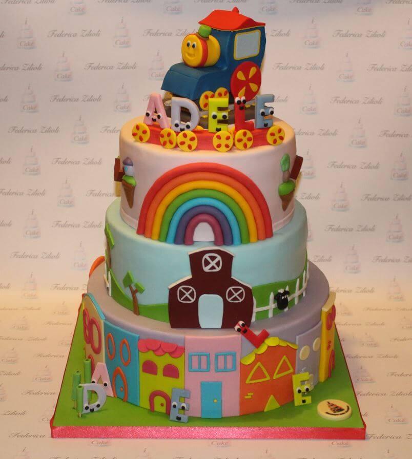 torta-cake-design-bob-train-trenino - Cake Design Brescia